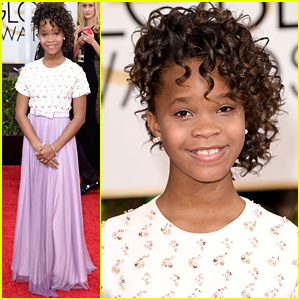 Quvenzhane Wallis Keeps It Sweet at Golden Globes 2015