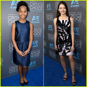 Quvenzhane Wallis & Mackenzie Foy Get Dolled Up for Critics' Choice Awards 2015