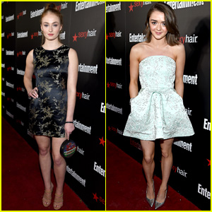 Sophie Turner & Maisie Williams Step Up Their Style Games at EW's SAG Party!
