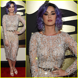 Katy Perry Works the Carpet at Grammys 2015