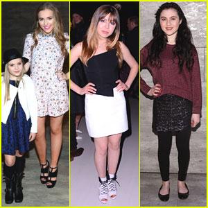 Lennon & Maisy Stella Join Mom Marylynne For New York Fashion Week Shows