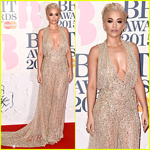 Rita Ora Looks Golden at BRIT Awards 2015