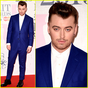 Sam Smith Arrives for the BRIT Awards 2015