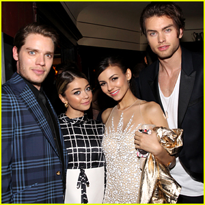 Sarah Hyland & Victoria Justice Double Date at Young Hollywood Celebration