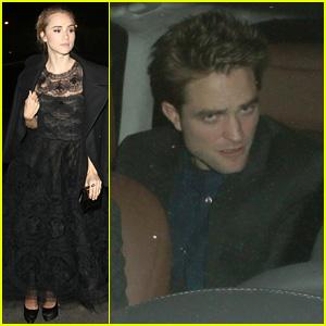 Suki Waterhouse Parties with Robert Pattinson Ahead of Academy Awards 2015