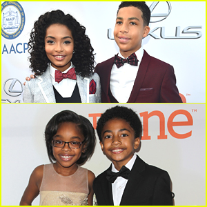 Black-ish's Yara Shahidi & Marcus Scribner Are Keeping Bowties Cool at NAACP Image Awards 2015