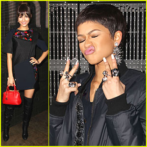 Victoria Justice Gets Bangs For DKNY Show with Zendaya