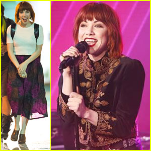 Carly Rae Jepsen Performs 'I Really Like You' On Jimmy Kimmel Live - See The Pics!