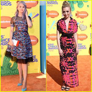 Debby Ryan Debuts Lavender Hair at Kids Choice Awards 2015