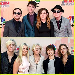 R5 Attends iHeartRadio Music Awards 2015 Alongside Echosmith!