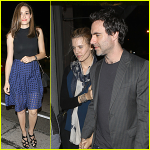 Emmy Rossum & Maggie Grace Look Perfect For Dinner at Craig's