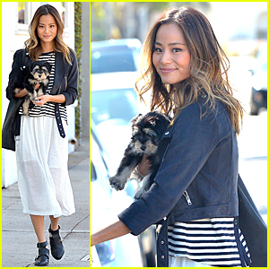 Jamie Chung & New Puppy Ewok Are Cutest Duo Ever!