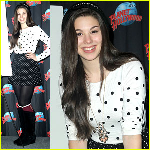 Kira Kosarin Celebrates 'Thundermans' Renewal at Planet Hollywood