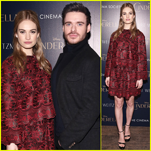 Lily James Is 'So Excited' for Dan Stevens to Play The Beast in 'Beauty & the Beast'!