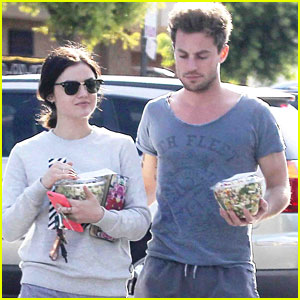 Lucy Hale & Lawson's Adam Pitts Hit Disneyland Together
