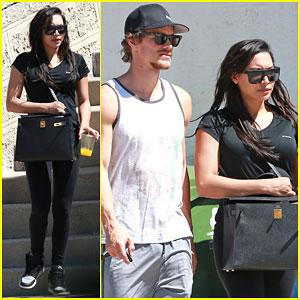 Naya Rivera & Ryan Dorsey Take Their Love to the Gym!