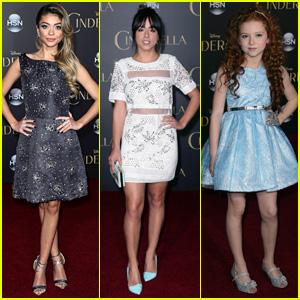 Sarah Hyland & Chloe Bennett Are Stunners at 'Cinderella' Premiere