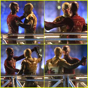 Grant Gustin & Tom Cavanagh Give Us A 'Flash'Dance - See Them Waltz!
