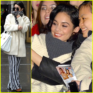 Vanessa Hudgens Meets Every Witch Way's Zoey Burger in New York City!