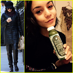 Vanessa Hudgens & Sister Stella Take Darla for an East Village Stroll