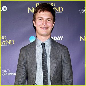 Ansel Elgort Checks Out 'Finding Neverland' on Broadway!