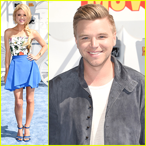 Bailey De Young Joins Brett Davern At MTV Movie Awards 2015