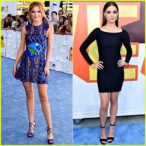 Bella Thorne & Maia Mitchell Arrive for the MTV Movie Awards 2015