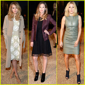 Suki Waterhouse & Dylan Penn Look Super Chic for Burberry Fashion Show!
