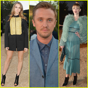 Cara Delevingne & Tom Felton Help Burberry Bring London to Los Angeles