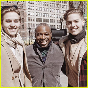Dylan & Cole Sprouse Meet Up With Phill Lewis In New York City