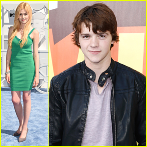 Katherine McNamara & BFF Joel Courtney Hit Up MTV Movie Awards 2015