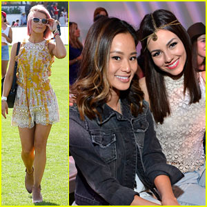 Julianne Hough Shows Off Pink Hair at Coachella!