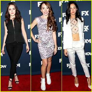 Elizabeth Gillies Hits FX's Upfront Bowling Party with 'The Americans' Cast