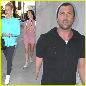 Meryl Davis Lunches With Maksim Chmerkovskiy & Peta Murgatroyd in Hollywood