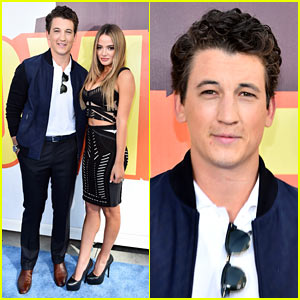 Miles Teller Hits MTV Movie Awards Carpet with Girlfriend Keleigh Sperry!