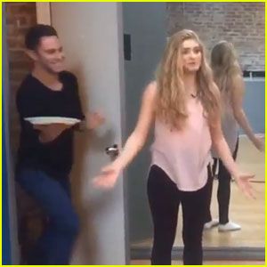 Sasha Farber Plays April Fool's Day Prank On Willow Shields - Watch Here!