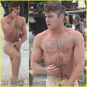 Zac Efron Runs Around Almost Naked on 'Dirty Grandpa' Set!