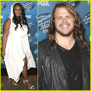Candice Glover & Caleb Johnson Hit Up 'American Idol' Finale Party