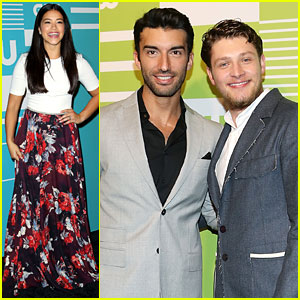 Justin Baldoni & Brett Dier Bring Their Bromance To CW Upfronts 2015