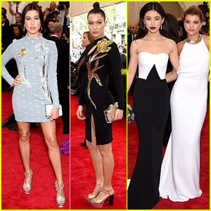 Hailey Baldwin & Bella Hadid Are a Topshop Twosome at Met Gala 2015