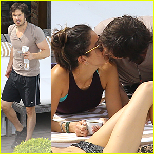 Ian Somerhalder & Nikki Reed Can't Resist Kissing Each Other in Brazil