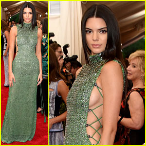 Kendall Jenner Is Gorgeous in Green at Met Gala 2015!