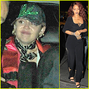 Miley Cyrus & Rihanna Enjoy Night at Up & Down Night Club