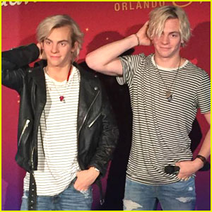 Ross Lynch Meets His Wax Figure In Orlando