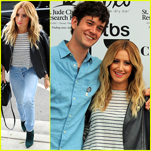 Ashley Tisdale Promotes New Show 'Clipped' With Ryan Pinkston
