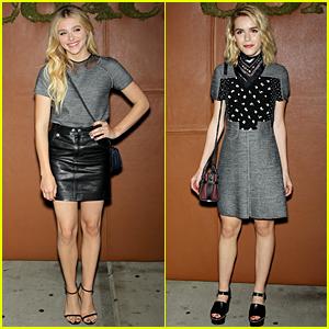 Chloe Moretz & Kiernan Shipka Are Black & Grey Hotties at Coach Party