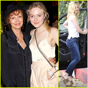 Dakota Fanning & Susan Sarandon Catch Up at 'Wolfpack' After Party