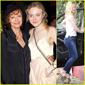 Dakota Fanning & Susan Sarandon Catch Up at 'Wolfpack' After Party