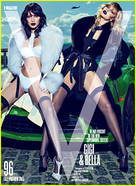Gigi & Bella Hadid Are Double Trouble for 'V'