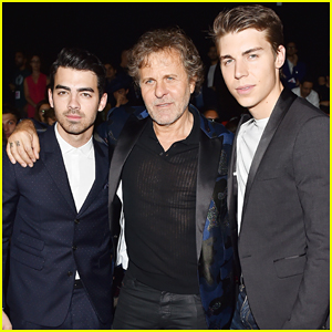 Joe Jonas & Nolan Gerard Funk Buddy Up At Dsquared2 Fashion Show!